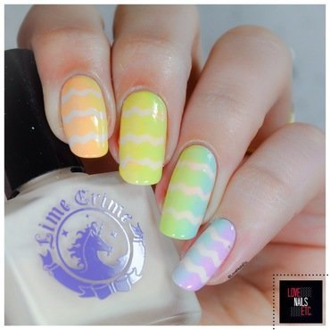 Pastel VS. Neon nail art by Love Nails Etc