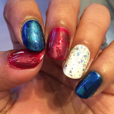 Fourth of July Mani 2016 nail art by Nailaday