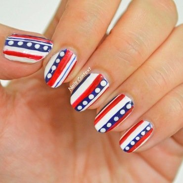 Fourth of July Nails  nail art by NailsContext