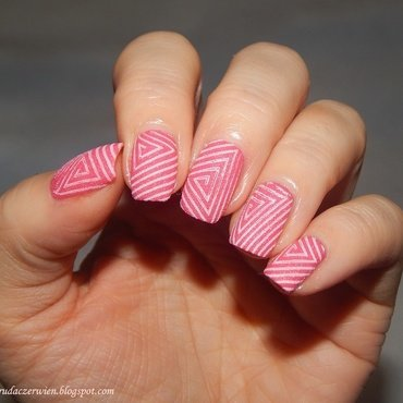 Sand effect nail art by Rudaczerwień