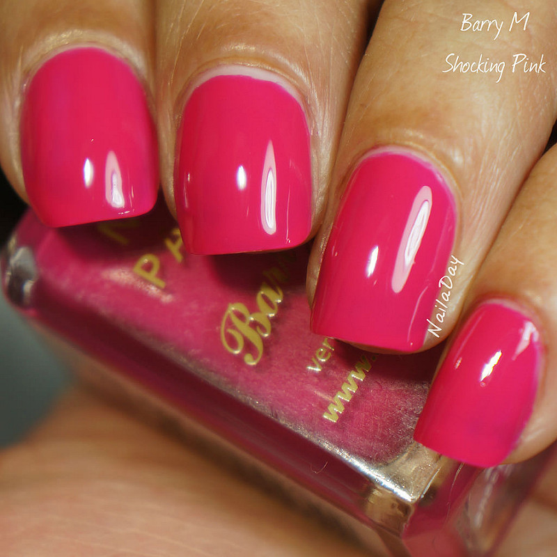 Barry M shocking pink Swatch by Nailaday