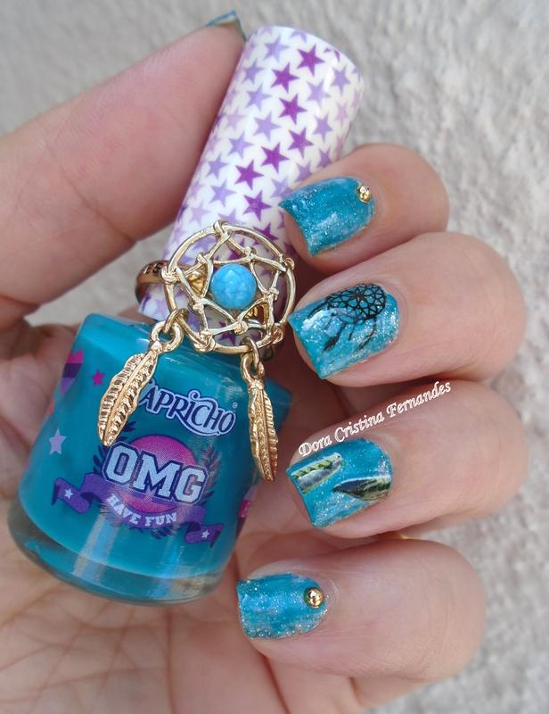 Dreamcatcher nail art by Dora Cristina Fernandes