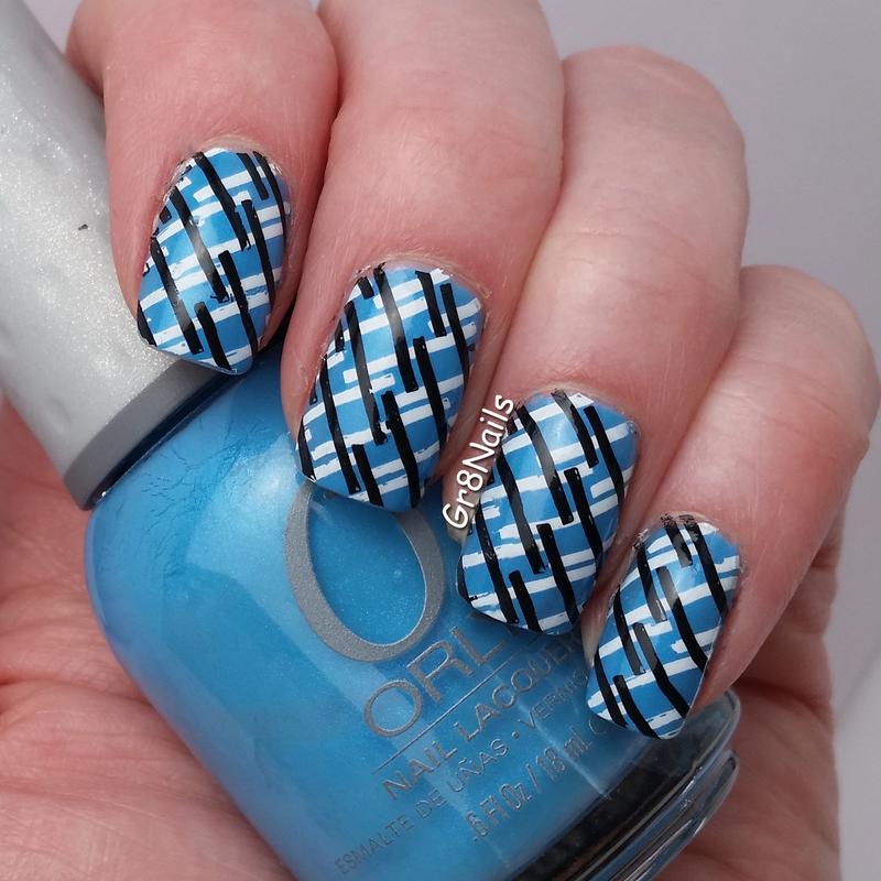 Criss Cross nail art by Gr8Nails
