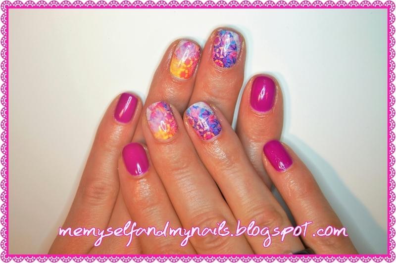 Colour explosion nail art by ELIZA OK-W