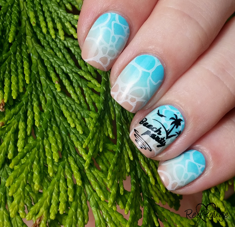 Beach Party nail art by RedRouge