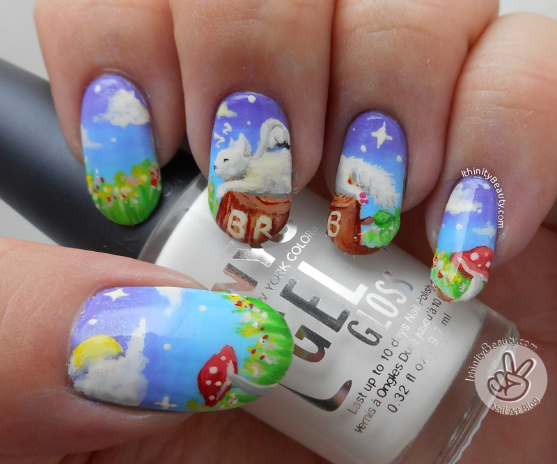 Brb, The Cat Fairy Is Taking A Nap nail art by Ithfifi Williams