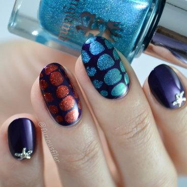 Snake Skin nail art by Furious Filer