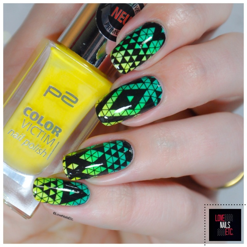 Geometric Psychedelic nail art by Love Nails Etc
