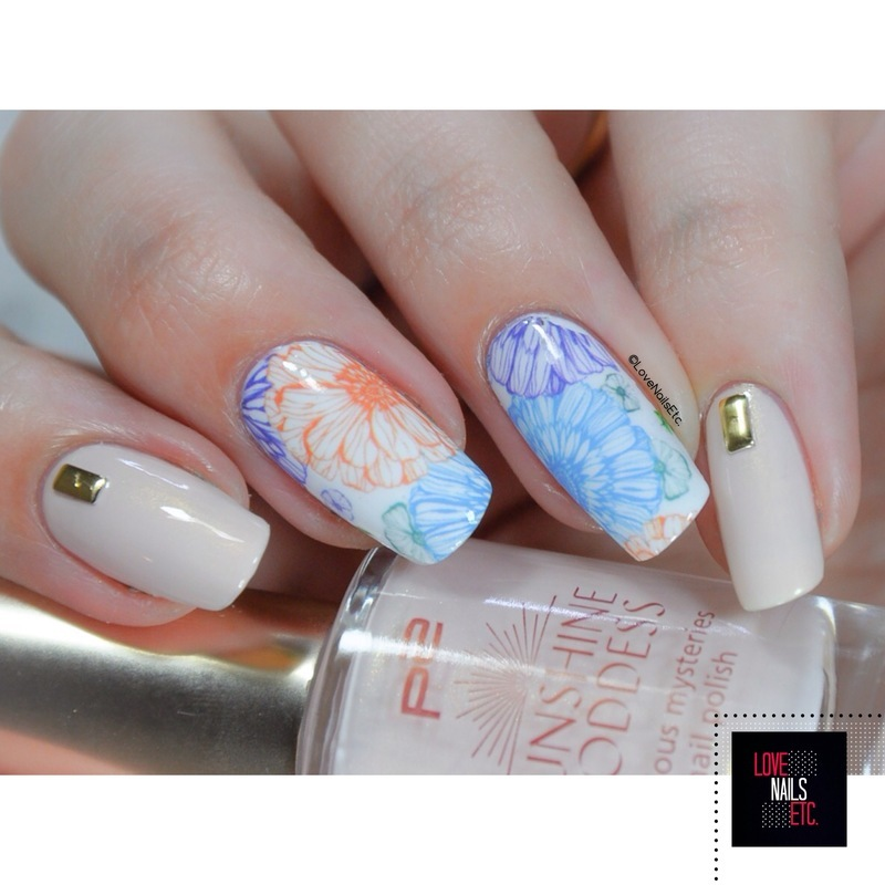 Flowers & Goddess nail art by Love Nails Etc