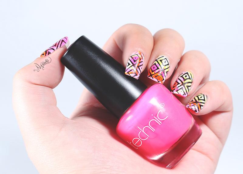 Brights! nail art by Nanneri