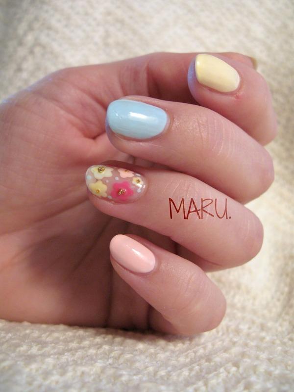 Pastel. nail art by Martina