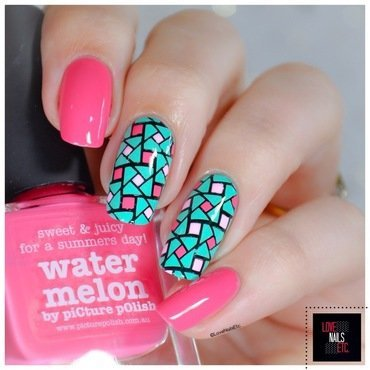 40 20great 20nail 20art 20ideas 20  20pink 20aqua 20geometric 20nail 20art7 thumb370f