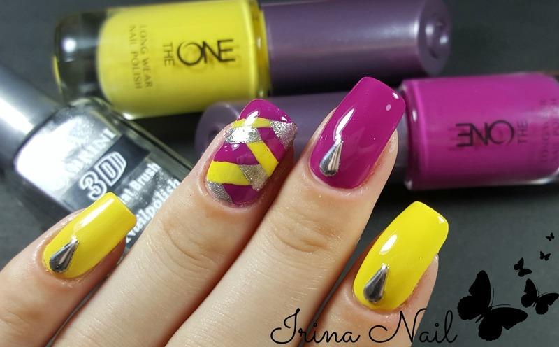Summer manicure nail art by Irina Nail