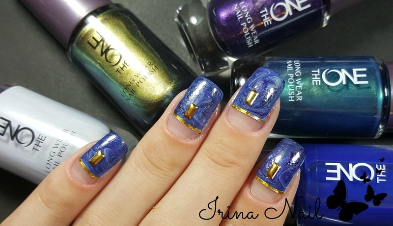 Blue Wonders nail art by Irina Nail