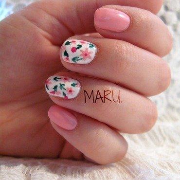 Romantic Spring nail art by Martina