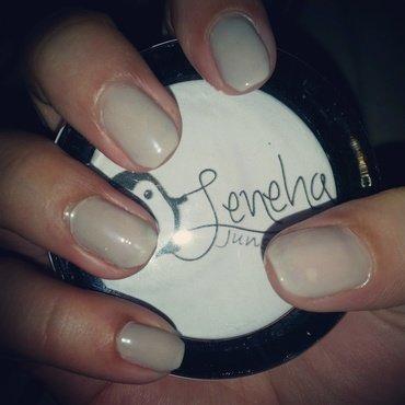 Nude Pastel Grey Gel Nails by Leneha Junsu