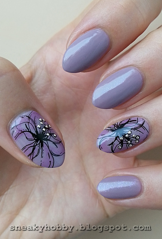 Inspired Flowers nail art by Mgielka M