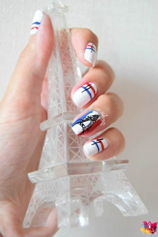 14 Juillet nail art by i-am-nail-art