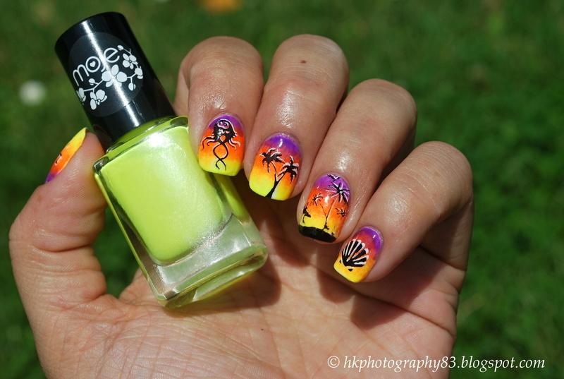 Summer/beach nail art nail art by Hana K.