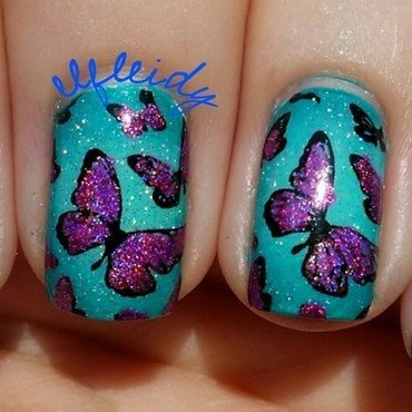 Inspired by IGer @clairestelle8 nail art by Jenette Maitland-Tomblin
