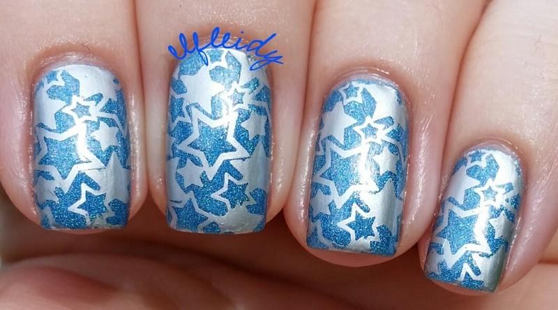 Patriotic nails nail art by Jenette Maitland-Tomblin