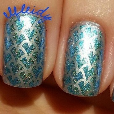 Dragon scales nail art by Jenette Maitland-Tomblin