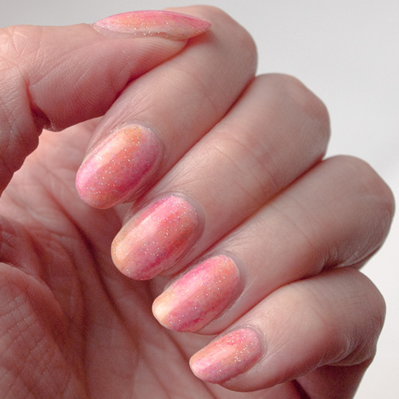 Jelly watercolor manicure nail art by What's on my nails today?