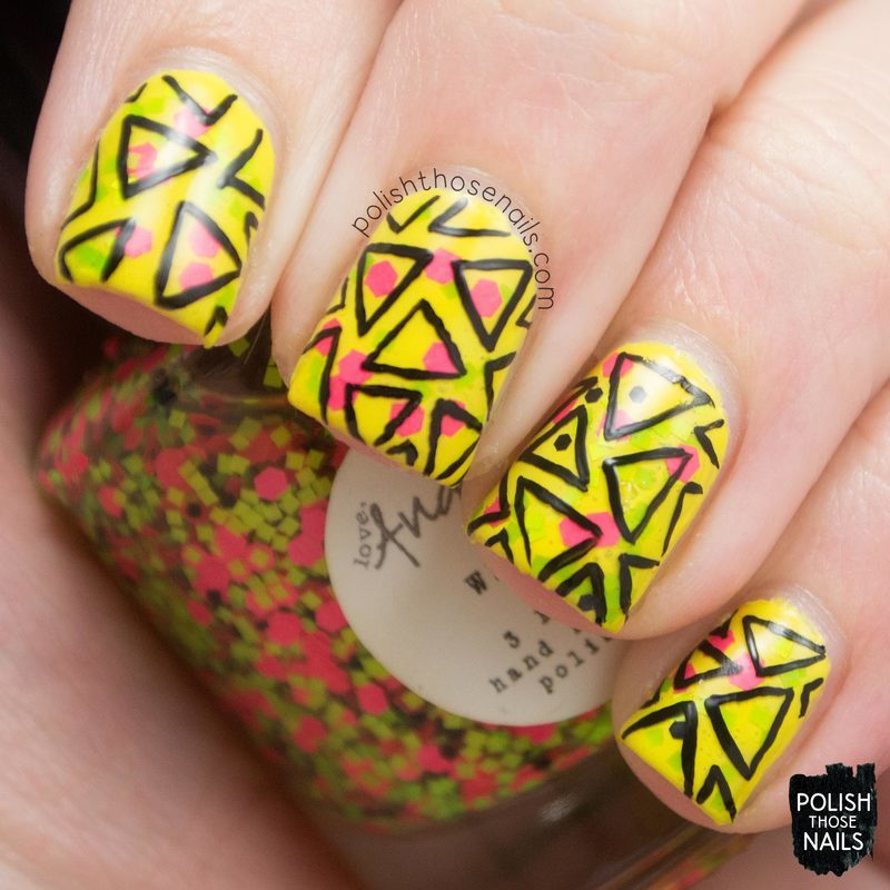 80s Wham! nail art by Marisa  Cavanaugh