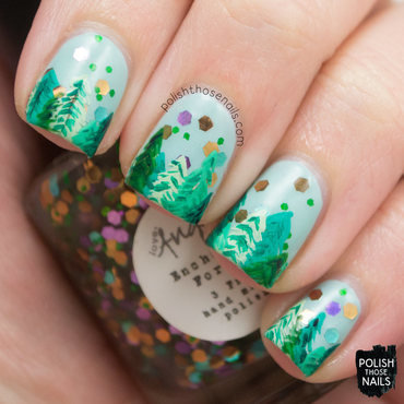 Enchanted Forest nail art by Marisa  Cavanaugh