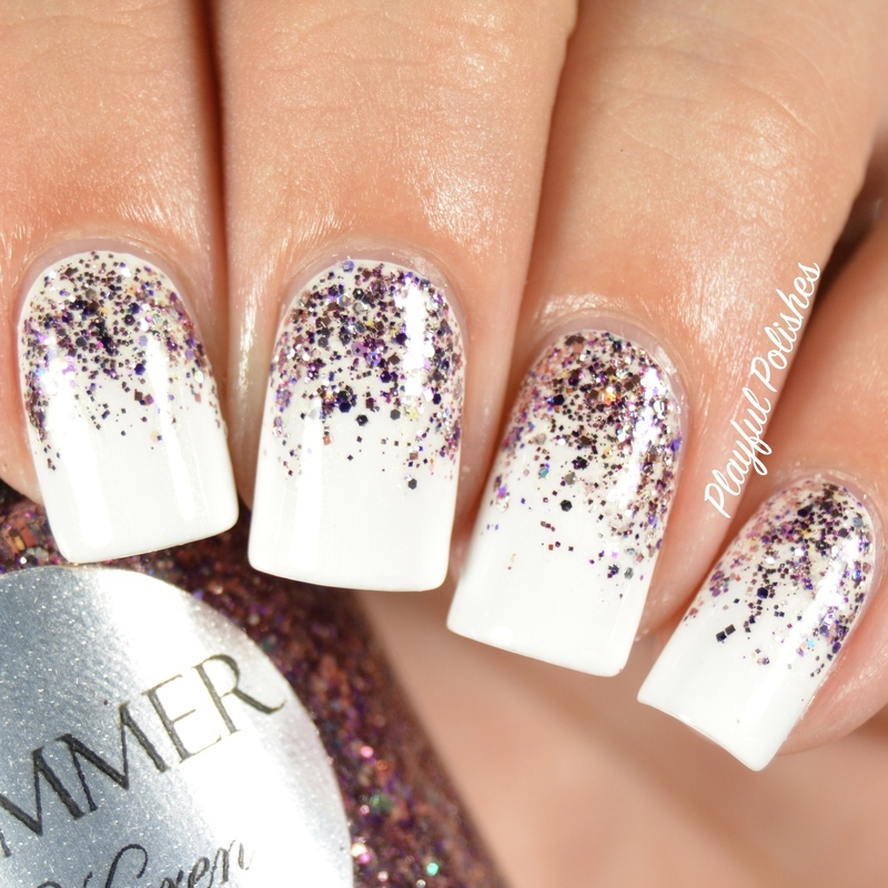 Glitter Gradient nail art by Playful Polishes