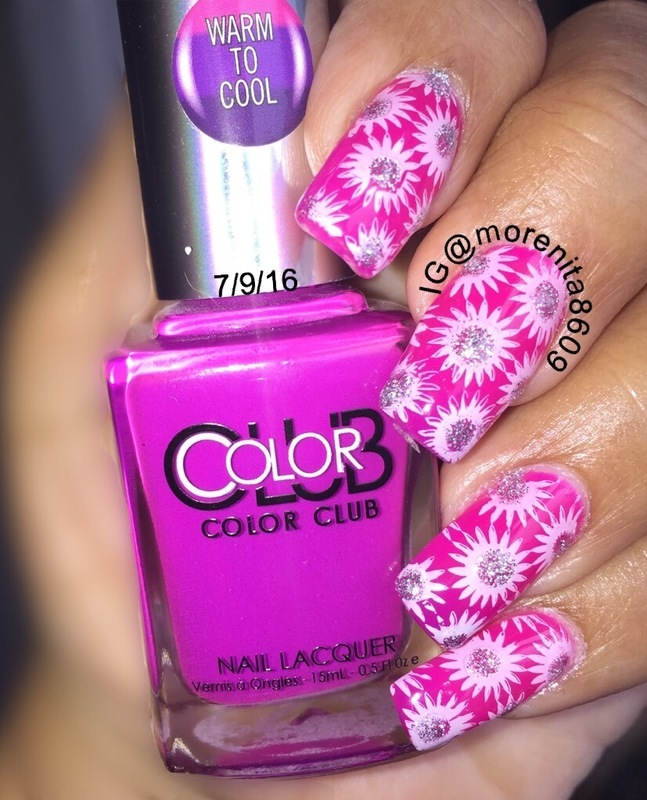 Color Club Thermal nail art by Morenita  Morena
