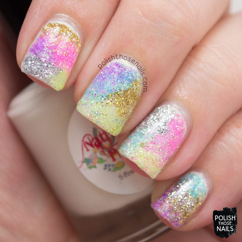 Sparkle Mess nail art by Marisa  Cavanaugh