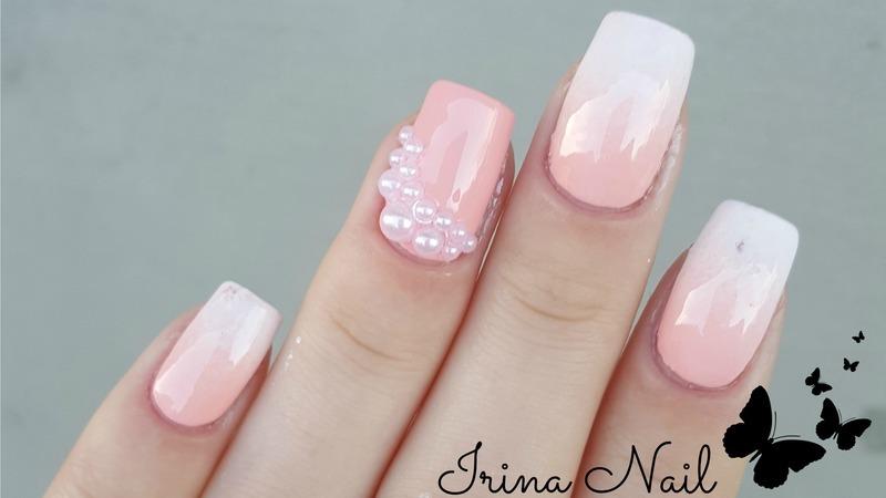 BabyBoomer / Ombre French nail art by Irina Nail