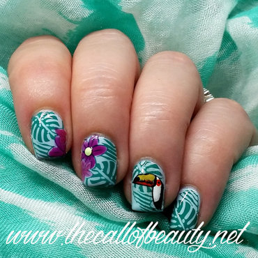 Jungle Manicure nail art by The Call of Beauty