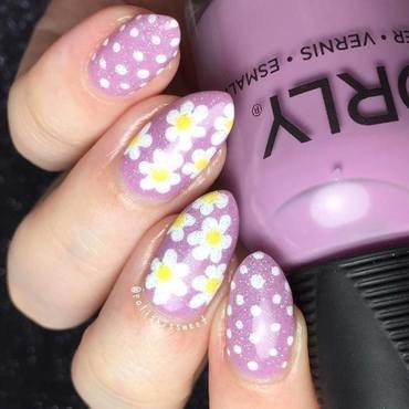 Dots and Daisies nail art by PolishIsSweet