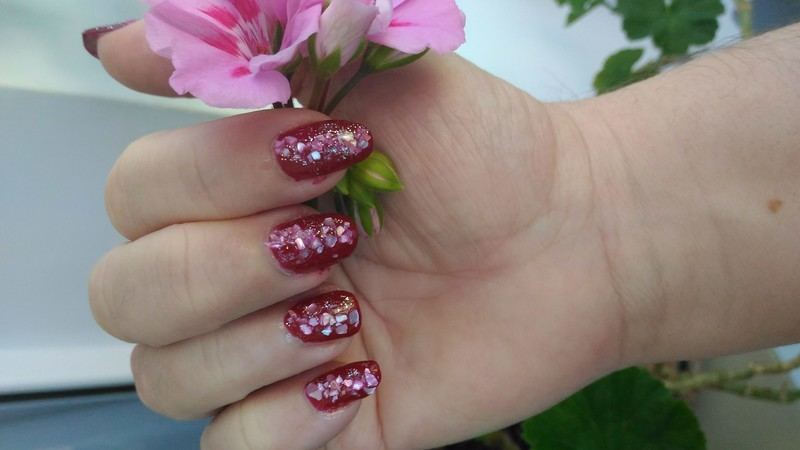 Party in Red nail art by tigerlyly