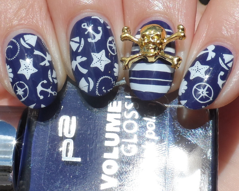 Nautical nail art by Plenty of Colors