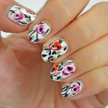 Floral Fancy nail art by NailsContext