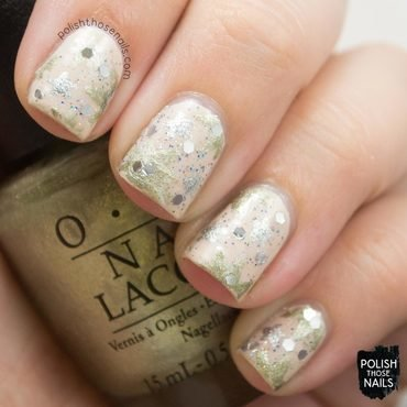 Neutral soft gold silver sparkle nail art 4 thumb370f