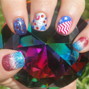 4th of July 2016 nail art by Kristen Lovett