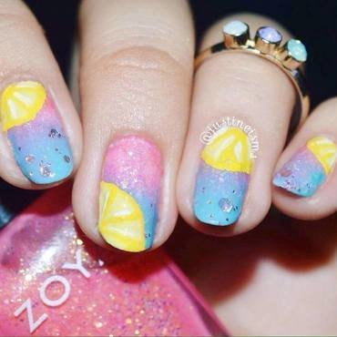 Summer Lemonade nail art by ℐustine