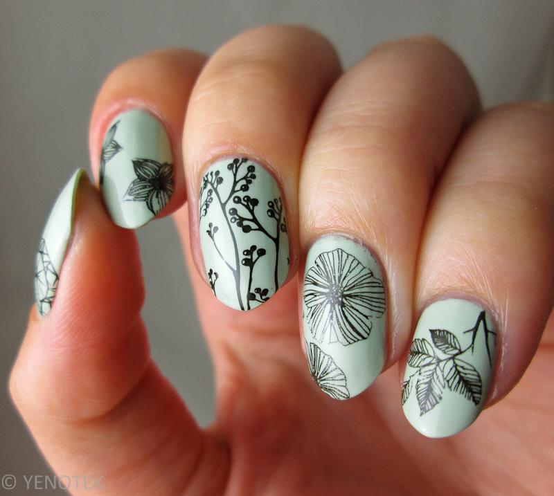 Stamping nail art by Yenotek