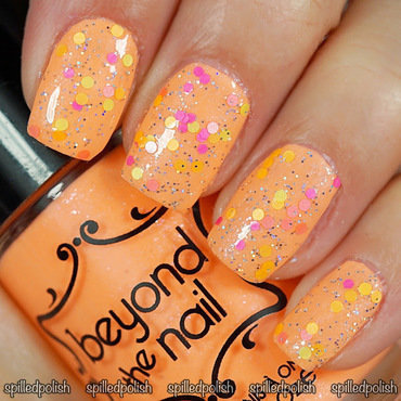 Neon Glitter Topper nail art by Maddy S