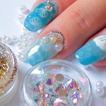 Ocean nail art nail art by Volish Polish