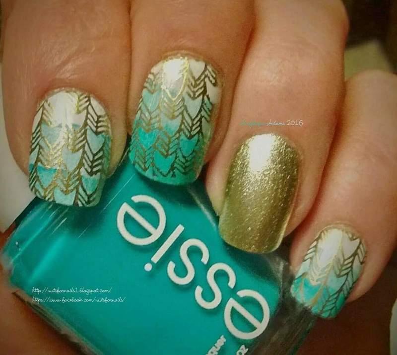Golden arrows  nail art by Angelique Adams