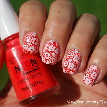 Flower Lace Nail Art nail art by Hana K.