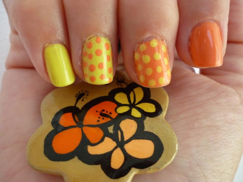 Lemon & Apricot nail art by velinux