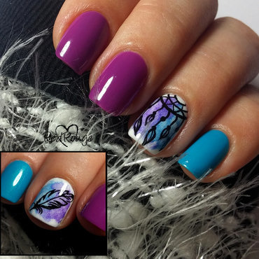 Dream Catcher nail art by RedRouge