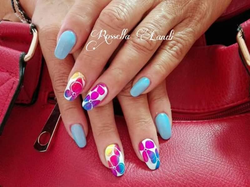 Pigmenti neon nail art by Rossella Landi