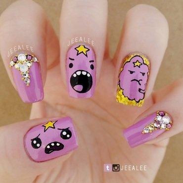 Lumpy Space Princess Nails nail art by JeeA Lee